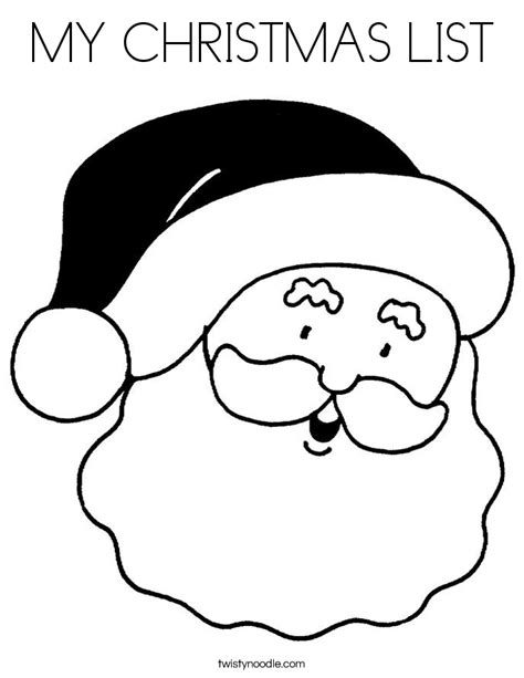 coloring pages of christmas list my christmas list coloring page twisty noodle