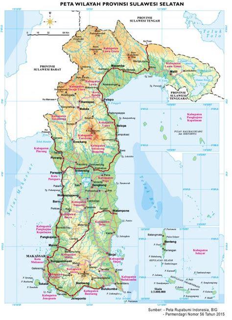 peta wilayah bpk ri perwakilan provinsi sulawesi selatan