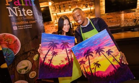 paint nite kc groupon painting and wine heartwood oak and paint nite