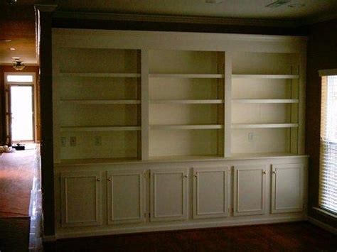painting built in bookcases light carpentry