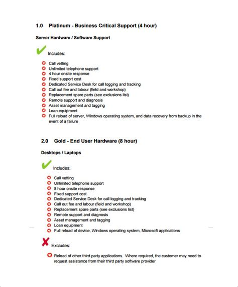 technical support agreement template 10 it support contract templates to for free