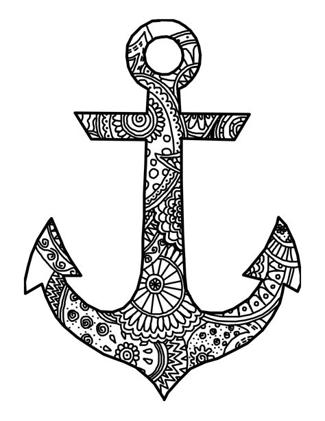 anchor coloring page adults pictures to pin on pinterest