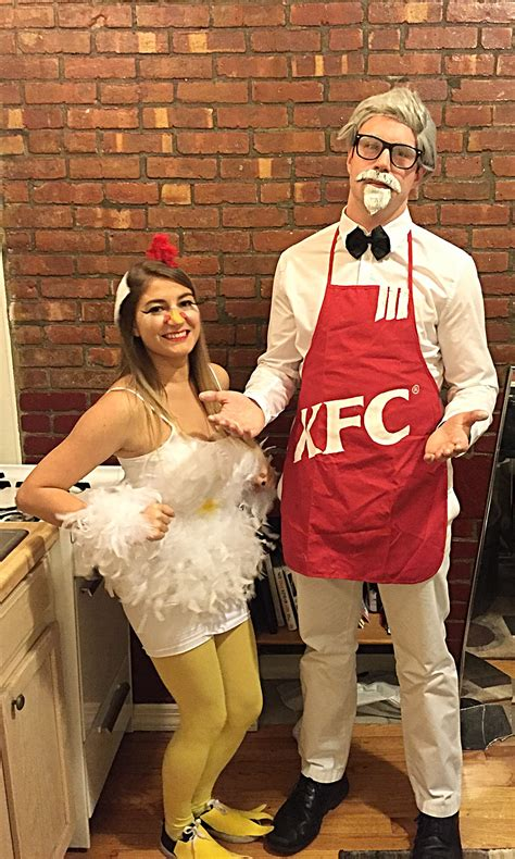 home  chicken halloween costume  homemade kfc