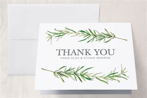 4 Simple Wedding Thank You Card Templates by Simple Wedding Thank You Cards
