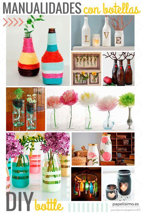 decorar botellas y tarros de cristal 12 ideas creativas con botellas y tarros de vidrio
