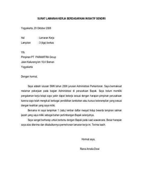 11+ Contoh Surat Lamaran Kerja Via Email Secara Resmi yang