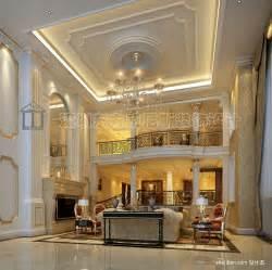 Lounge Ceiling Designs 最新欧式别墅客厅吊顶装修设计效果图 土巴兔装修效果图