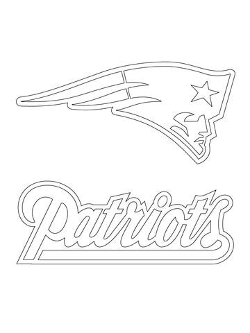 nfl symbols coloring pages new england patriots logo coloring page free printable