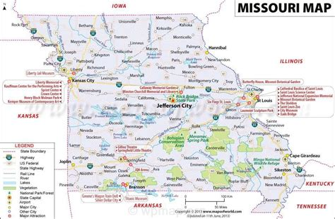 missouri map with cities and towns missouri map jpg