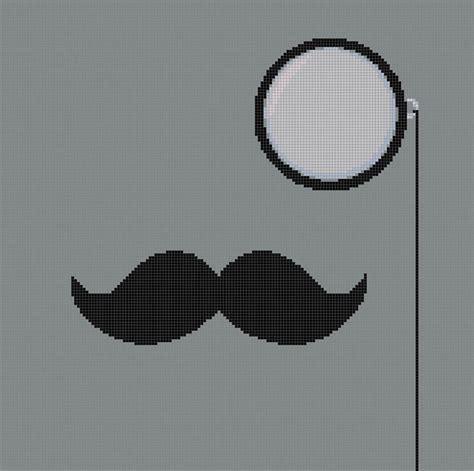 A Cross Stitch Handmade - monocle and mustache handmade pdf cross stitch pattern