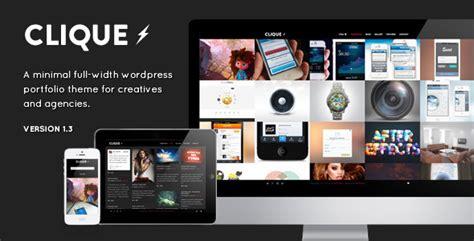 themes wordpress themeforest free clique ajax responsive portfolio wordpress theme