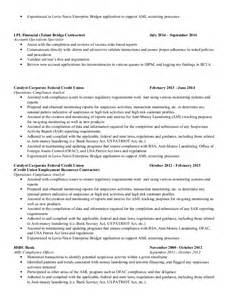 Aml Analyst Sle Resume by Kimberlin Shropshire Resume