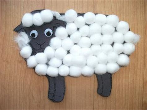 cotton craft for preschool crafts for sheep cotton craft
