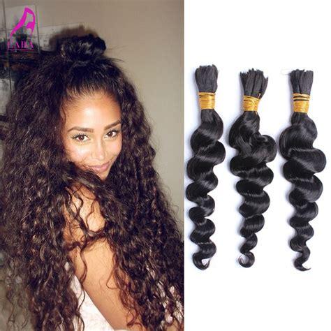 Loose Wave Braiding Hair | 7a malaysian loose wave human braiding hair bulk loose