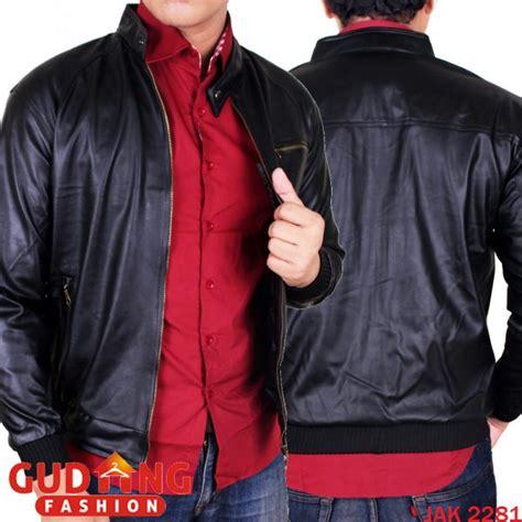 Jaket Pria Parasut Hitam Jak 2223 jaket kulit sintetis pria oscar kulit hitam jak 2281 gudang fashion