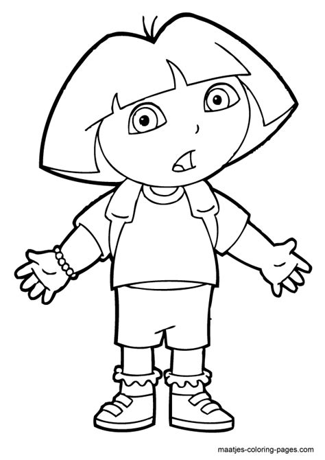 dora and buji coloring page free coloring pages of dora buji