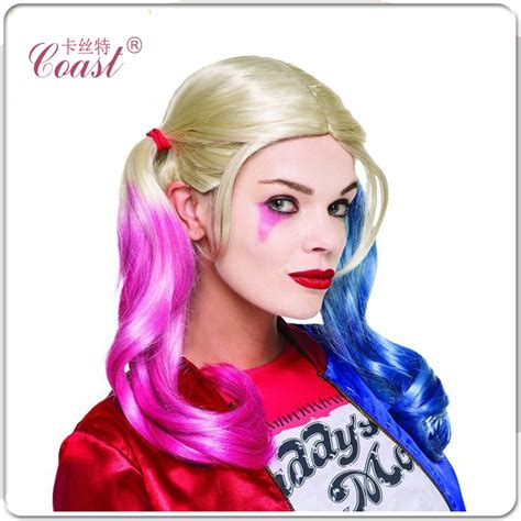 harley quinn hair color harleen quinzel harley quinn wig color mixed