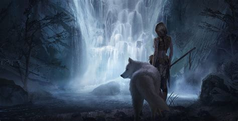 film gratis wolves fantasy girl beauty beautiful long hair woman warrior