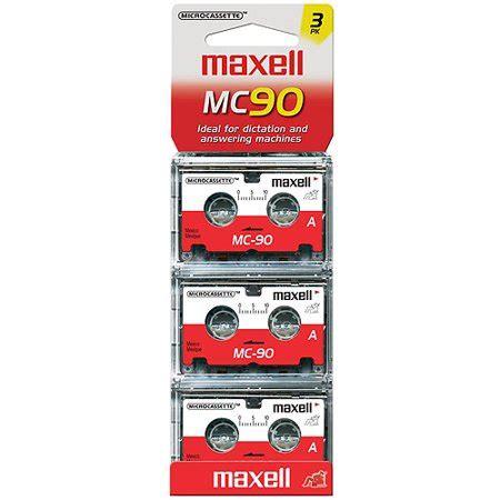 maxell cassette maxell mc 90 microcassette 3pk walmart