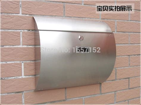 Proof Letter Boxes Aliexpress Buy Stainless Steel Arc Cottage Mail Box Proof Rust Proof Mailbox Wall