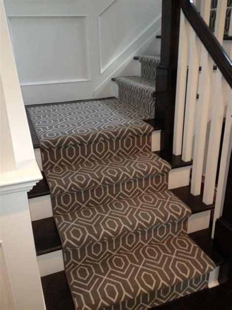 modern stair runners geometric stair runner modern new york by