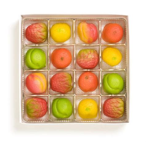 8 fruit products marzipan shaped fruit 8oz