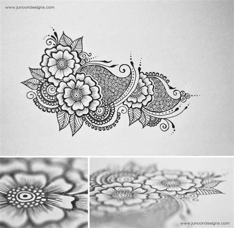 white henna tattoo tutorial floral doodles by faheema patel via behance design