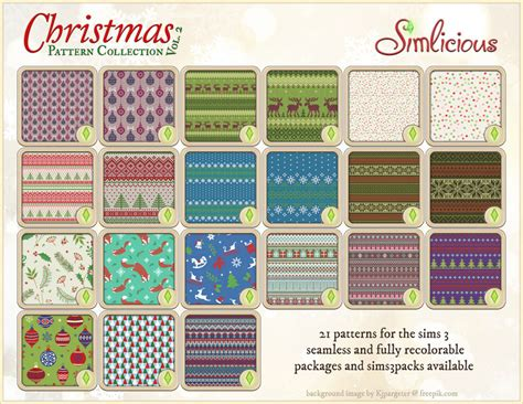 pattern theme download christmas themed pattern collection vol 2 custom