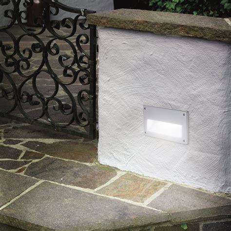 Recessed Outdoor Wall Lights Brick Light Eglo 88575 Zimba Ip44 Exterior Low Level Recessed Brick Wall Light