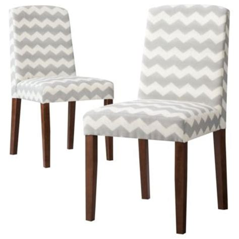 Chevron Dining Chairs Threshold Marion Upholstered Dining Chair Grey White Chevron Set Of 2 Kitchen Pinterest