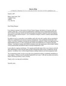 cover letter for project management project manager it cover letter sle resume cover letter
