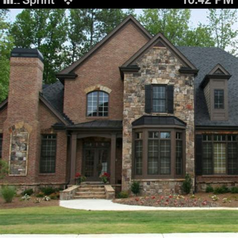 exterior brown brick and combinations search home exterior ideas
