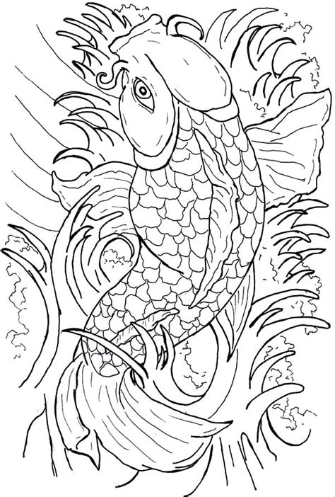 japanese zero coloring page coy fish coloring pages coloring home