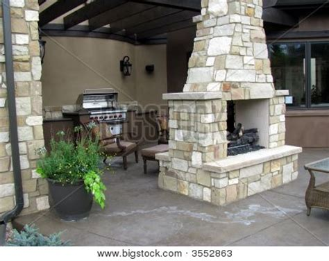 Back To Back Fireplaces by Patio Fireplace Stock Photo Stock Images Bigstock