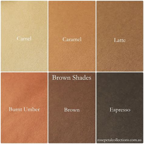 shades of brown pack of 8 quot x 12 quot 100 merino wool felt brown shades my felt lady