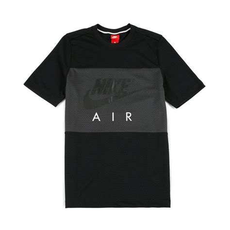 t shirt my airs nike nike air mesh t shirt black anthracite 24 50 913964