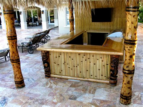 The Hut Restaurant And Tiki Bar Bamboo Tiki Hut Bar Bamboo Valance Photo
