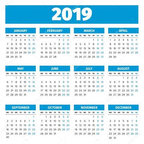 new year 2019 calendar calendario a 241 o 2019 simple archivo im 225 genes