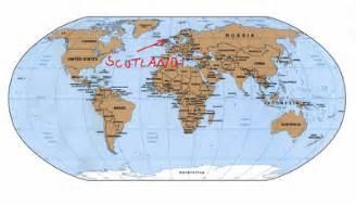 Scotland World Map bonnie scotland