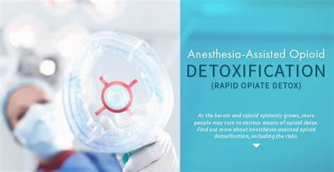 Anesthesia Assisted Detox anesthesia assisted opioid detoxification rapid opiate detox