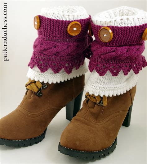 free pattern to knit boot cuffs boot cuffs pattern with buttons and lace pattern duchess