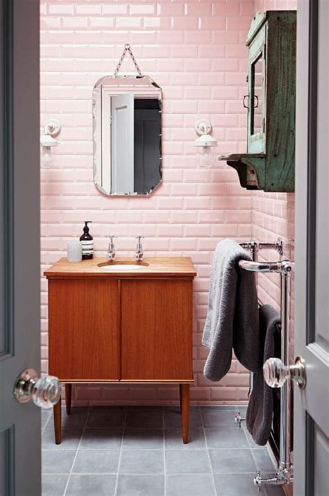 retro bathroom mirror best 25 pink bathroom tiles ideas on pinterest