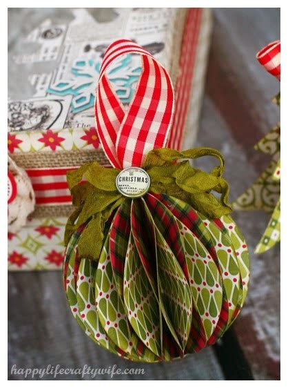christmas paper ornament tutorial christmas pinterest