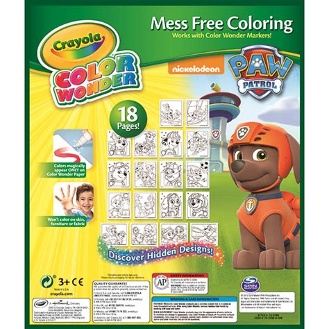Crayola Color Mess Free crayola paw patrol color mess free coloring pad and markers tools