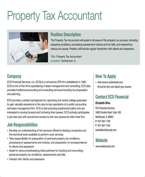 Property Accountant Resume by 26 Accountant Resume Format
