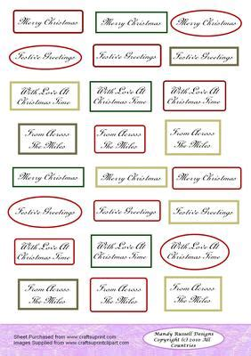 christmas sentiments text topper sheet cup craftsuprint