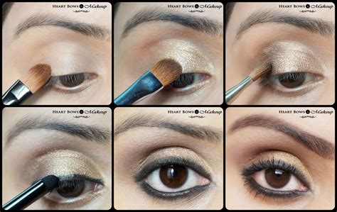 Eyeshadow For gold smokey eye makeup tutorial diwali special bows makeup