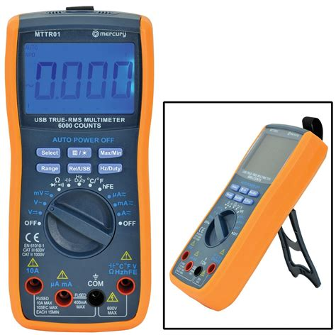 Www Multitester true rms multimeter with usb interface software supplied