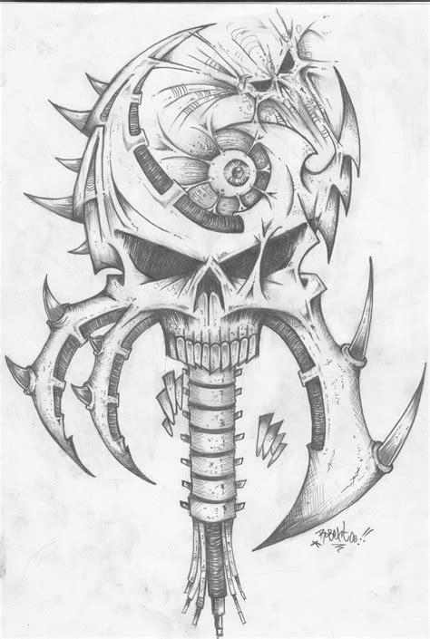 Kaos Anime Harley Davidson An American Original 02 bio mech skull by roobertonecro on deviantart