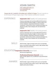 best templates for resumes best professional resume templates